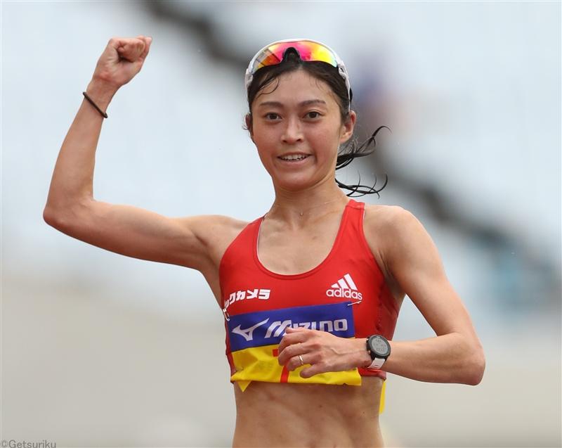 女子5000m競歩は岡田がVでパリへ新たな一歩 藤井2位、河添3位で五輪代表トリオが上位独占/全日本実業団
