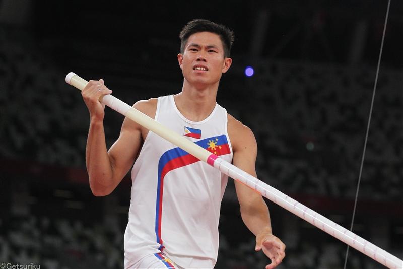 オビエナが男子棒高跳で5m93のアジア新! 五輪女王・オールマンは女子円盤投で北中米新の71m14