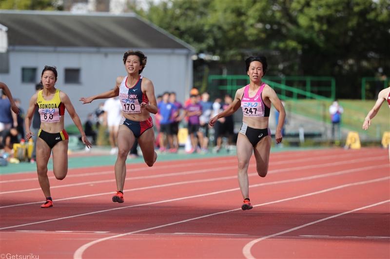 五輪代表対決は青山華依がV!追い風参考ながら11秒45 男子最速は関学大・桒原拓也/関西IC