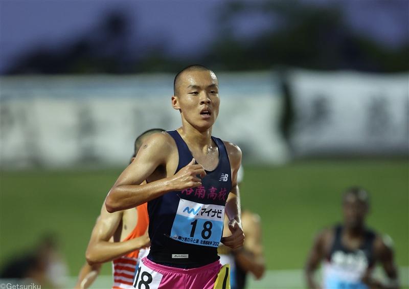 洛南高・佐藤圭汰5000mで13分31秒19の高校新!1500mと2種目の高校記録保持者に