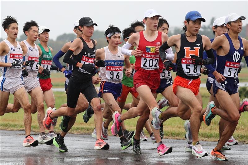 【展望】先頭争いは日本記録超えの59分台突入か!? 日本人1位候補は鎌田、栗原、藤本ら/箱根駅伝予選会