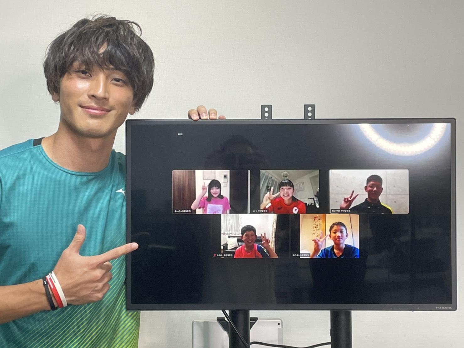 走幅跳・橋岡優輝が初のオンライン教室 ファンと交流に「応援があってこそ」来季は海外転戦を視野